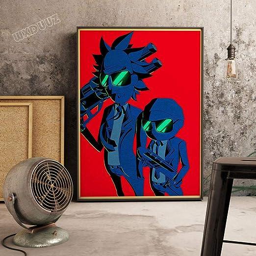 zxddzl Cartel de Dibujos Animados Retro HD Artista residencia ...