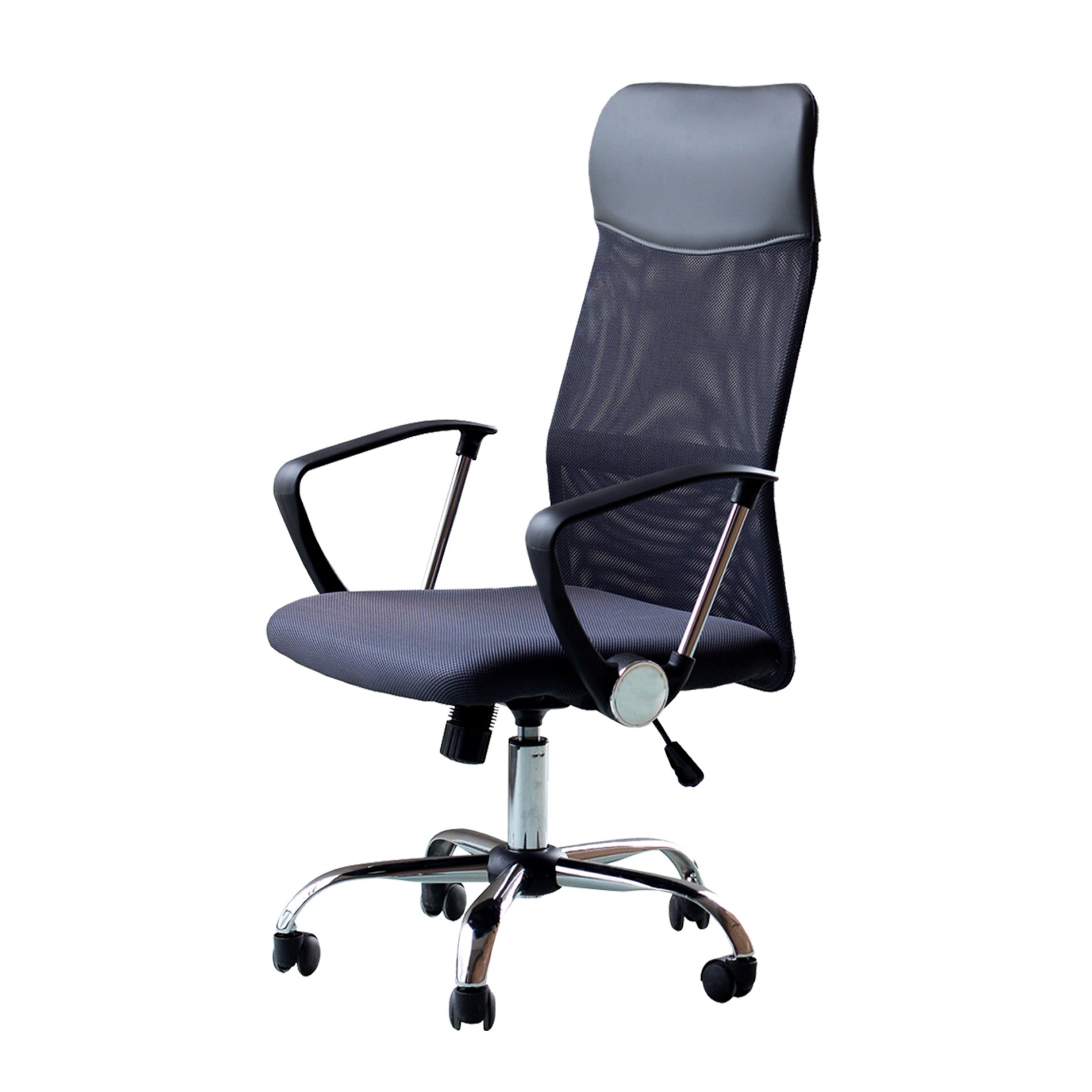 IDS Home Office Chair Mesh High Back Ergonomic Design With Arms PU Headrest Height Adjustable Desk Drafting Chair Dark Gray