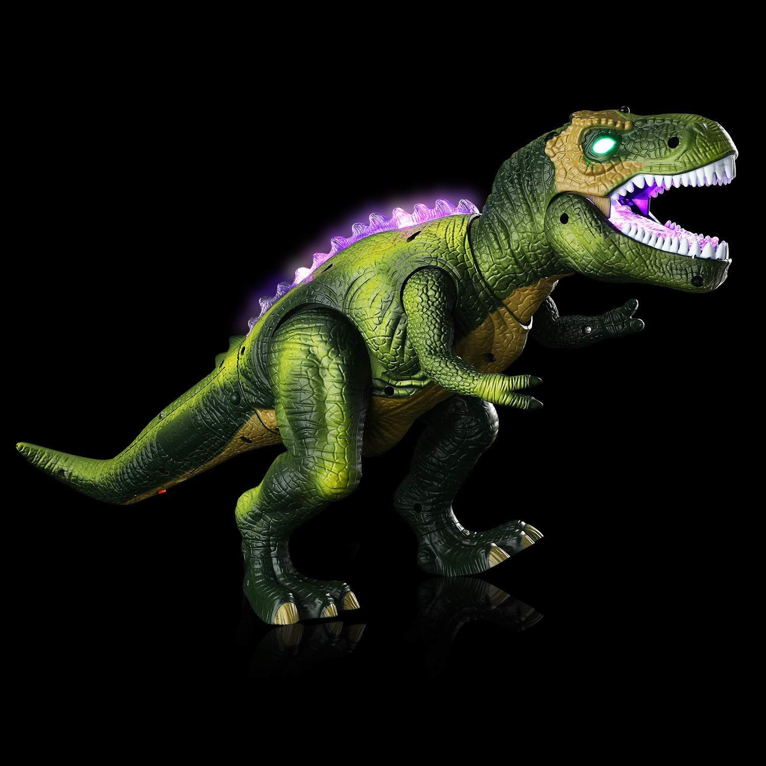 Tuko Light Up Remote Control Dinosaur Toys Jurassic World Walking and Roaring Realistic T-Rex Dinosaur Toys with Glowing Eyes, Walking Movement, Shaking Head for Toddlers Boys Girls by Tuko (Image #3)