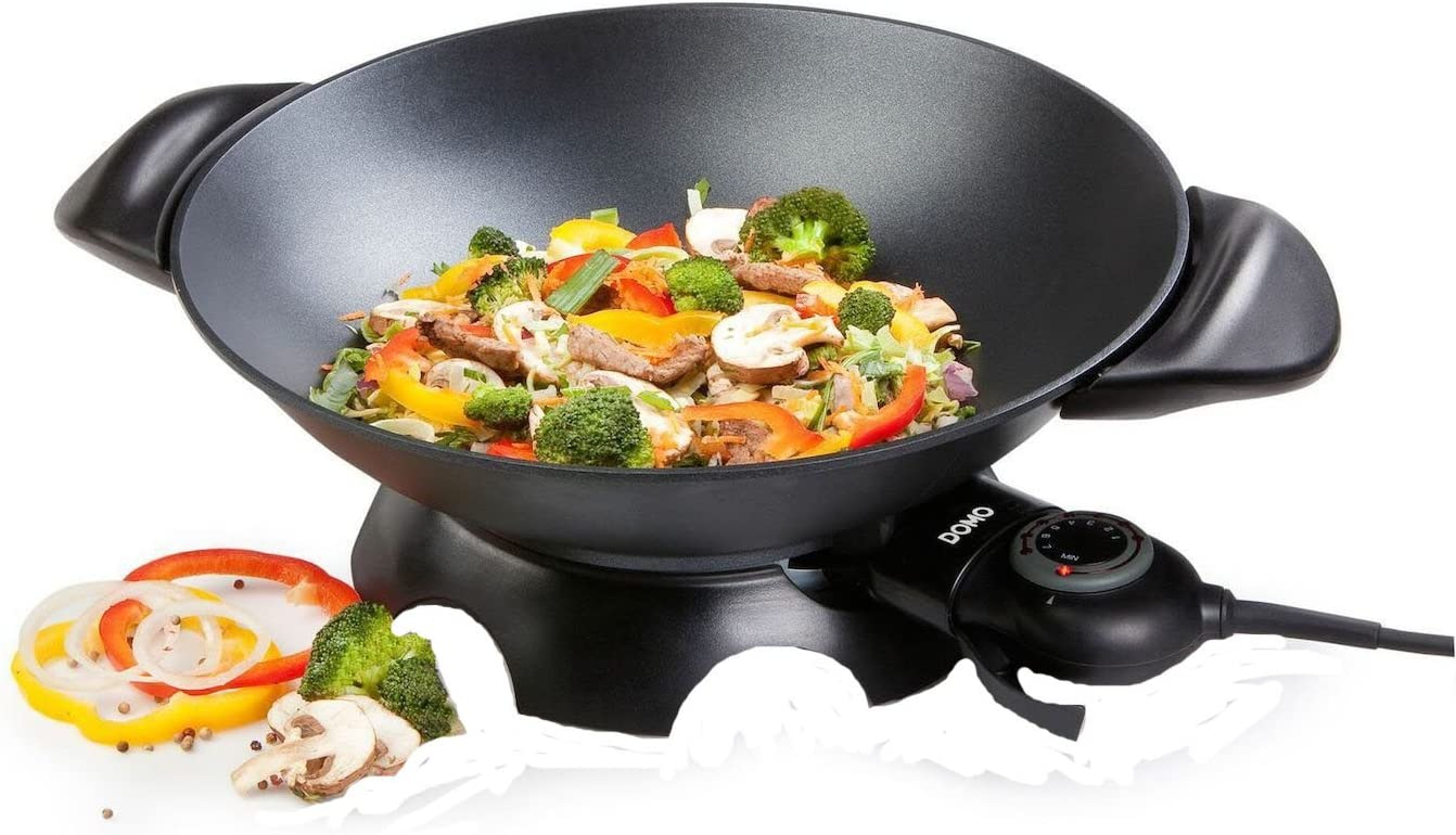 Domo DO-8708W DO8708W Wok 5 L, 2200 W, 5 liters, Noir