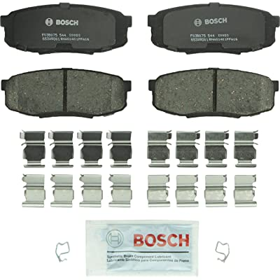 Bosch BP1304 QuietCast Premium Semi-Metallic Disc Brake Pad Set For Lexus: 2008-2020 LX570; Toyota: 2008-2020 Land Cruiser, 2008-2020 Sequoia, 2007-2010 Tundra; Rear: Automotive
