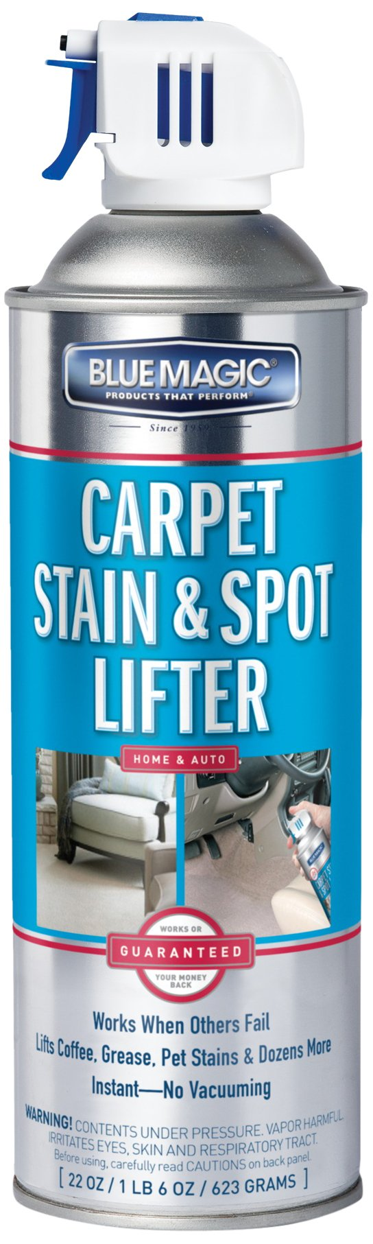 Blue Magic 900-06PK Carpet Stain and Spot Lifter-22 fl. oz, (Pack of 6), 22. Fluid_Ounces, 6 Pack