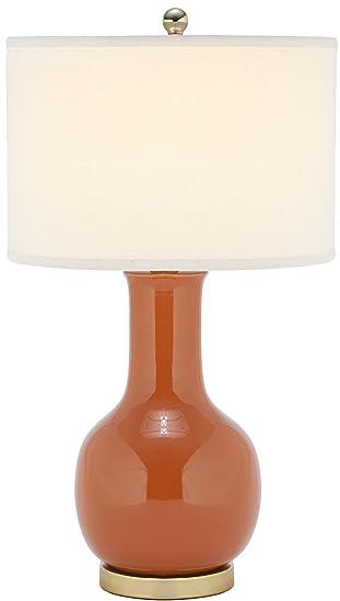 Safavieh UKL4024B Elle Table L& Ceramic Orange 13 W  sc 1 st  Amazon UK & Safavieh UKL4024B Elle Table Lamp Ceramic Orange 13 W: Amazon ... azcodes.com