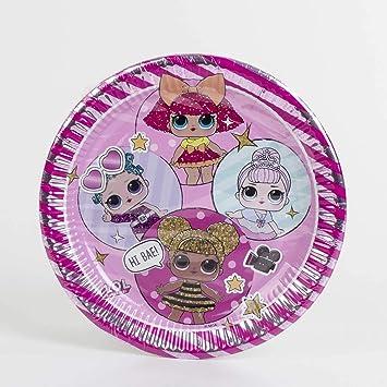 Lol Surprise Pack 8 platos cartón 23 cm: Amazon.es: Juguetes y juegos