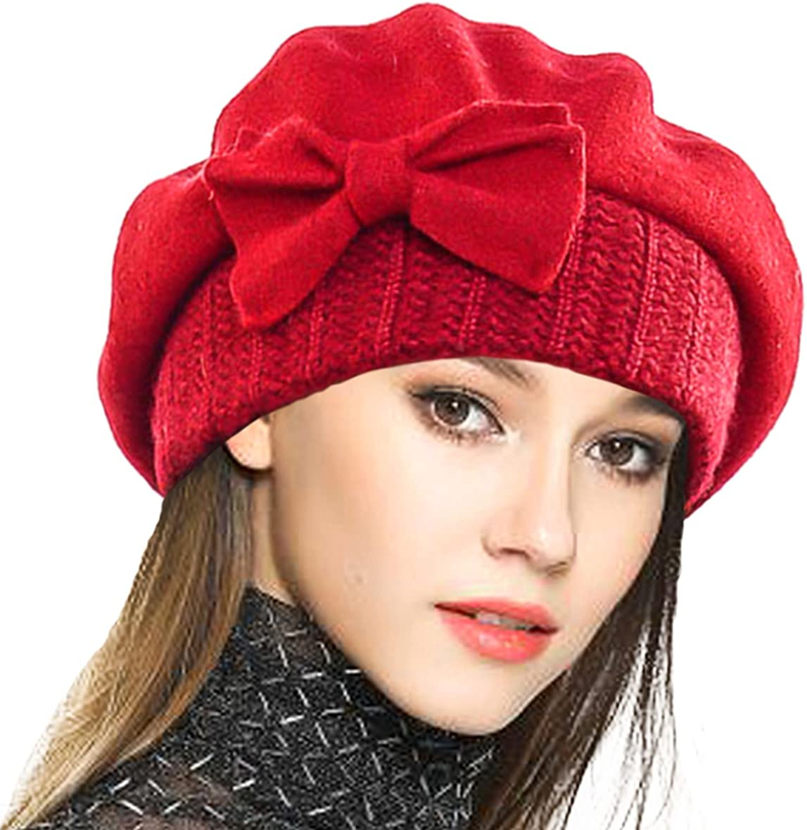 VECRY Womens 100/% Wool Bucket Hat Felt Cloche Beret Dress Winter Beanie Hats