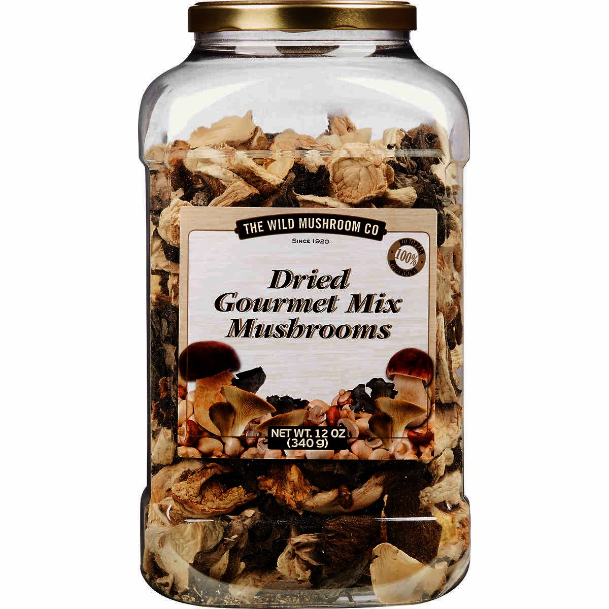 The Wild Mushroom Co. Dried Gourmet Mix European Mushrooms 12 Ounces (340g)