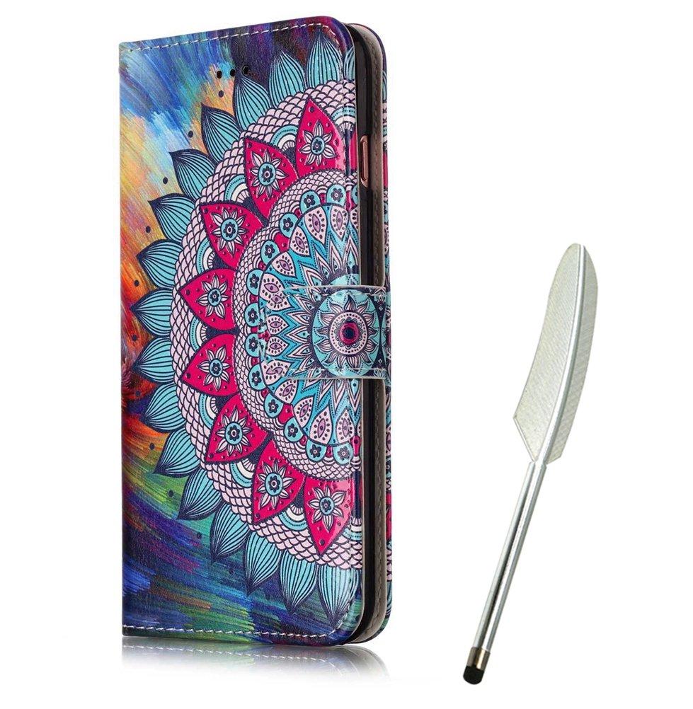 Galaxy S7 Edge Flip Case mit Bär, Edaroo Handyhülle Galaxy S7 Edge PU Leder Flip Wallet Cover in Book Style Stand Case Card Slots Handytasche Ledertasche Schutzhülle Tasche Karteneinschub und Magnetverschluß Kratzfestes und Schmutzunempfindliches für Samsu