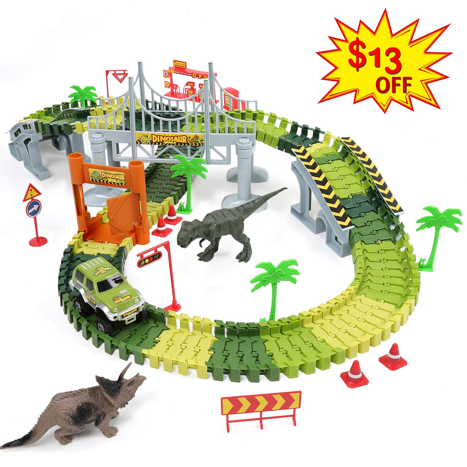 Dinosaur Toys Tracks Car Boy Gifts by Hugo's Ocean