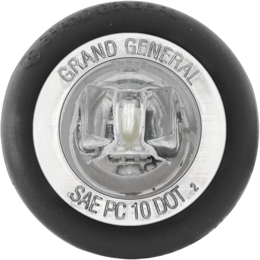 "ATVs UTVs RVs Red GG Grand General Grand General 75292 1/"" Dual Function Mini Wide Angle LED Light with Rubber Grommet for Trucks Trailers"
