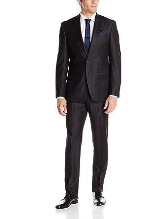 Andrew Fezza Men's Fraser Slim Fit Suit, Charcoal, 40 Regular