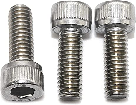 Edelstahl A2 V2A- rostfrei Zylinderschrauben mit Innensechskant M6 x 45 mm DIN 912 Gewindeschrauben - Zylinderkopf Schrauben ISO 4762 20 St/ück Eisenwaren2000