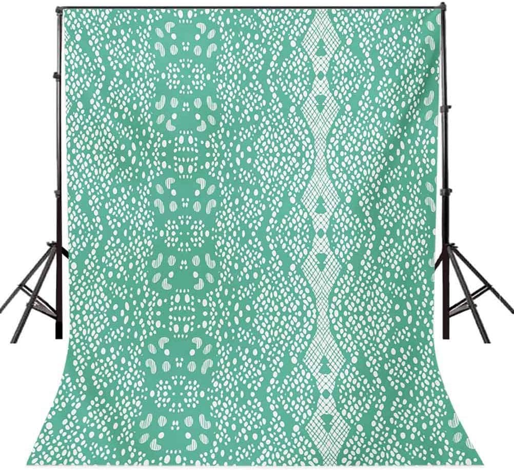 8X10FT-Retro Pattern Photographic Backdrops Green Photo Studio Background