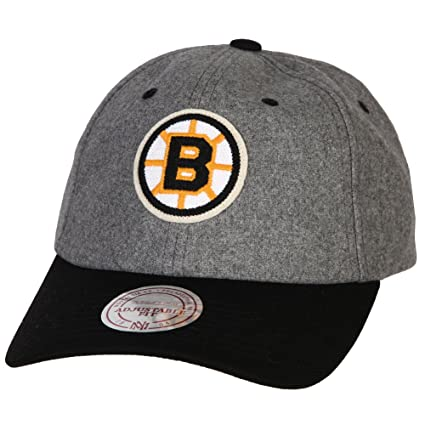 c9068fd795d Image Unavailable. Image not available for. Color  Boston Bruins Mitchell   Ness  NHL Vintage Wool Slouch Adjustable Hat