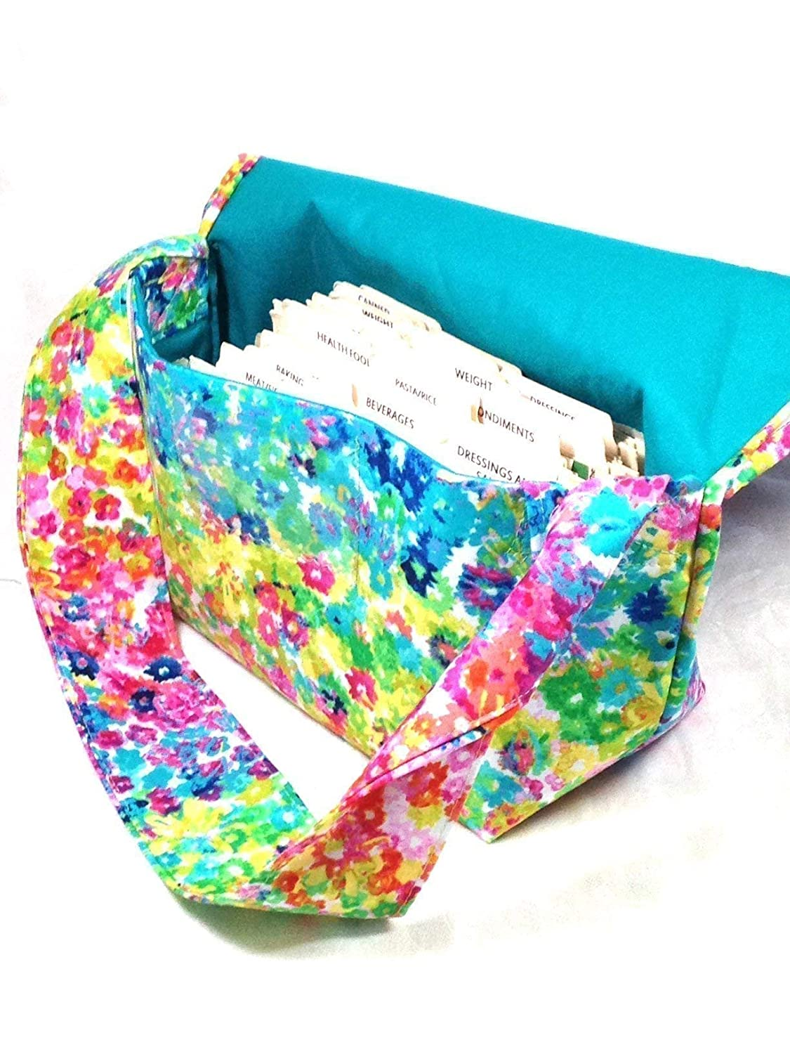 Mega Large Coupon Organizer Floral Watercolor Fabric