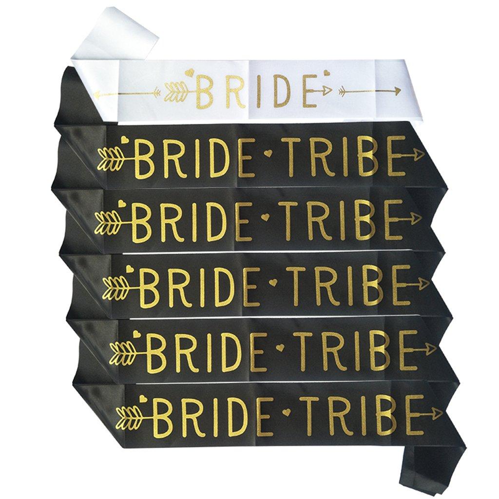 Baoblaze 6 Piezas Fajas Colecci/ón Cinta para Bride to Be Novia en Sat/én de Tribu Celebraci/ón de Venado