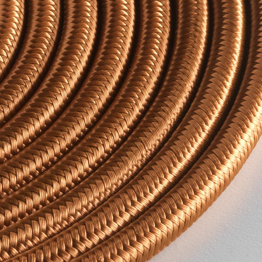 Klartext 3 x 0,75 mm 3 m Cable textil redondo luminoso para iluminaci/ón Atenci/ón: cable tierra incluido M/áxima seguridad a prueba de golpes. azul noche