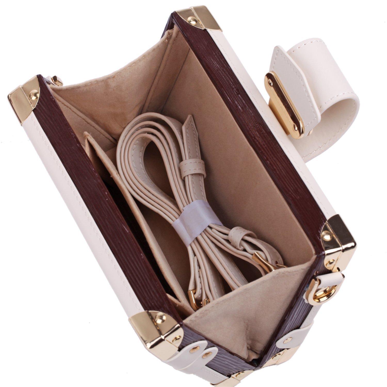Rowling Large Jewellery Box Watch Bracelets Rings Earring Cufflinks Women Handbag (BROWN) by Rowling (Image #8)
