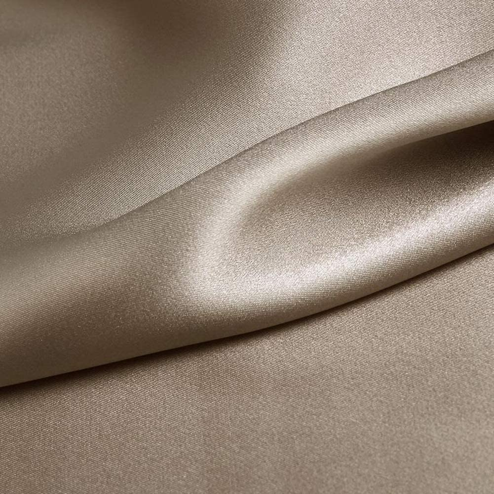 Fabric By The Yard Camel Silk Charmeuse