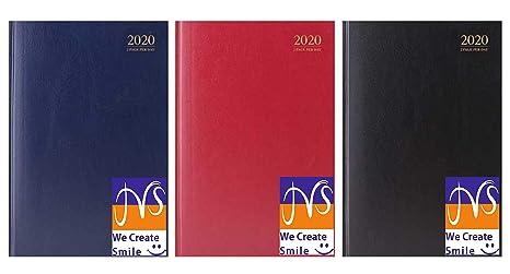 JMS® - Agenda de escritorio con dos páginas por día, tamaño ...