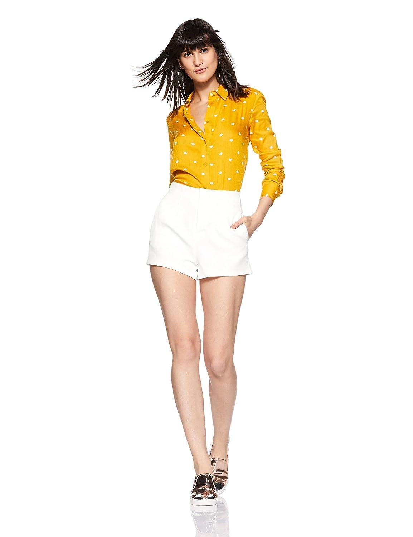Women's Comfort fit Yellow Full Sleeve Shirt