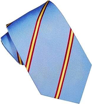 JOSVIL Corbatas de España con la bandera de españa. Corbata Seda Celeste. Corbata de seda para hombre elegante y de gran calidad.: Amazon.es: Ropa y accesorios