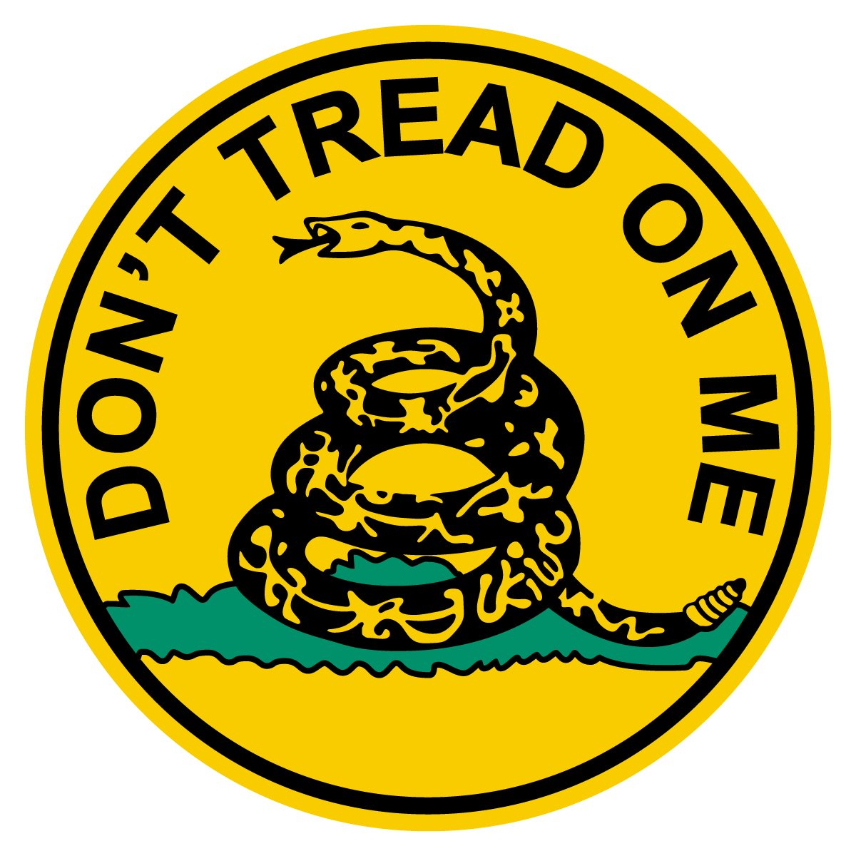 Don't Tread On Me Small Round Reflective Decal Sticker