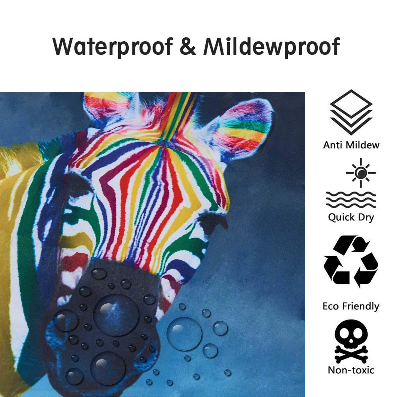 ENCOFT Duschvorhang Anti-Schimmel Wasserdicht Polyester mit 12 Duschvorhangringe Waschbar 180x180 Landschaft