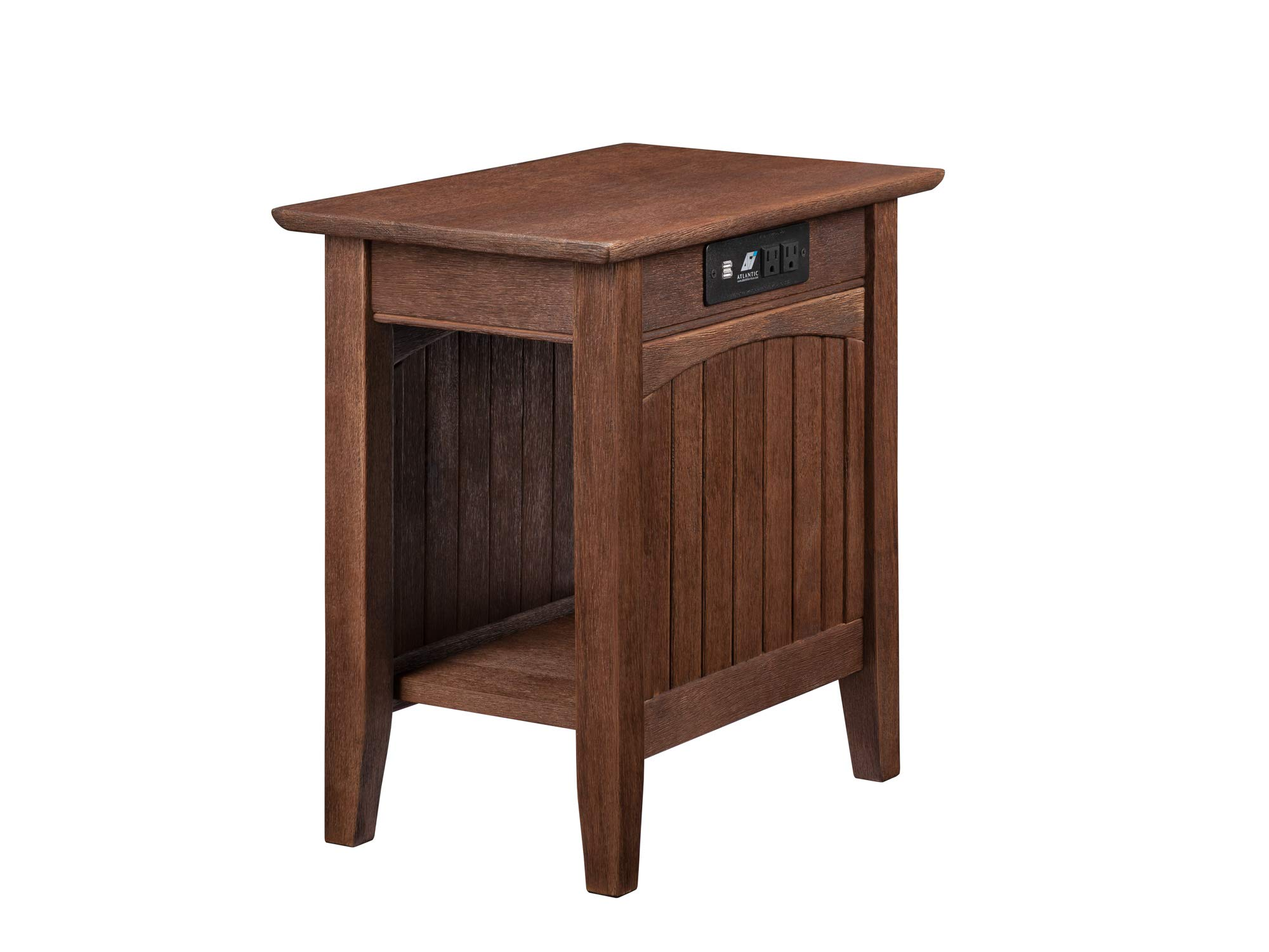 Atlantic Furniture AH13313 Nantucket Side Table, Burnt Amber by Atlantic Furniture