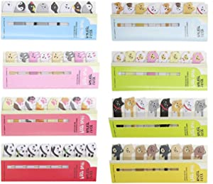 Cute Animals DIY Sticker Bookmarks Memo Pad Sticky Notepaper Sticky Notes Page Flags Self-Stick Tab Bookmark Marker Pad Cartoon Office School Supplies