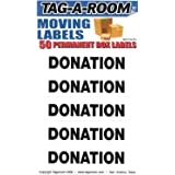 Tag-A-Room Donation Color Coded Moving Labels (50 Count), Moving Supplies