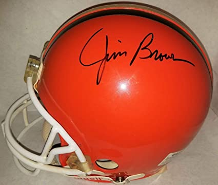 0272bbe05ba Jim Brown Autographed Helmet - Full Size Authentic Riddell VSR 2 COA  #S39414 - JSA