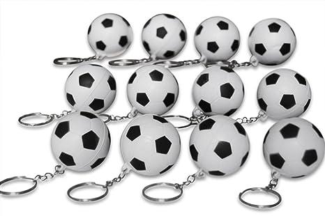 Amazon.com: Novela Merk 12 Pack Balón de fútbol Keychains ...