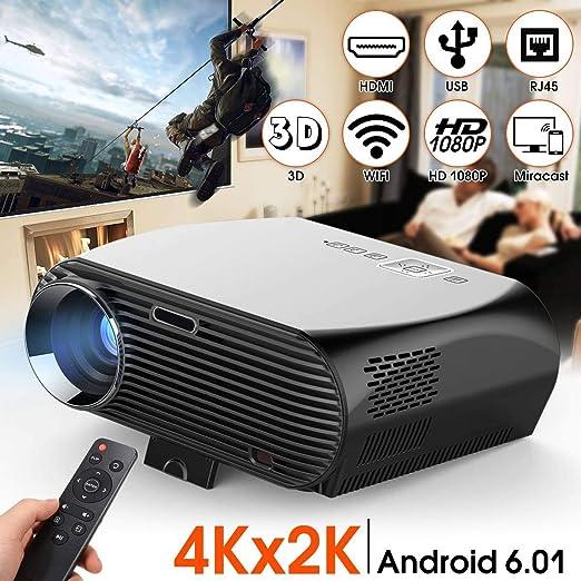 Aingol Proyector de Video, LCD 1080P Calidad de Imagen de Nivel ...