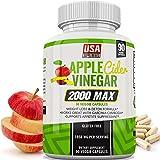 Apple Cider Vinegar Capsules - Weight Loss - 1,950mg - 100% Pure Raw Organic Veggie Caps - Detox, Healthy Blood Sugar…