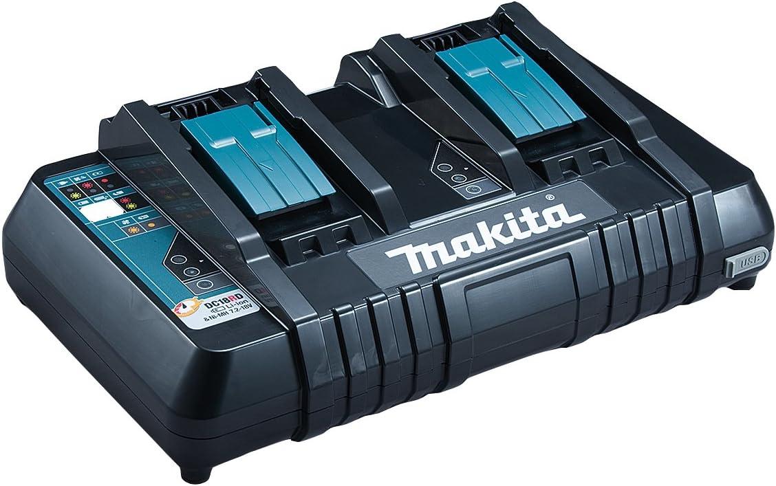 MAKITA 630868-6 DC18RD cargables (Cargador de batería, Negro, 0,25 h, 0,75 h, Ión de Litio), 0 W, 0 V
