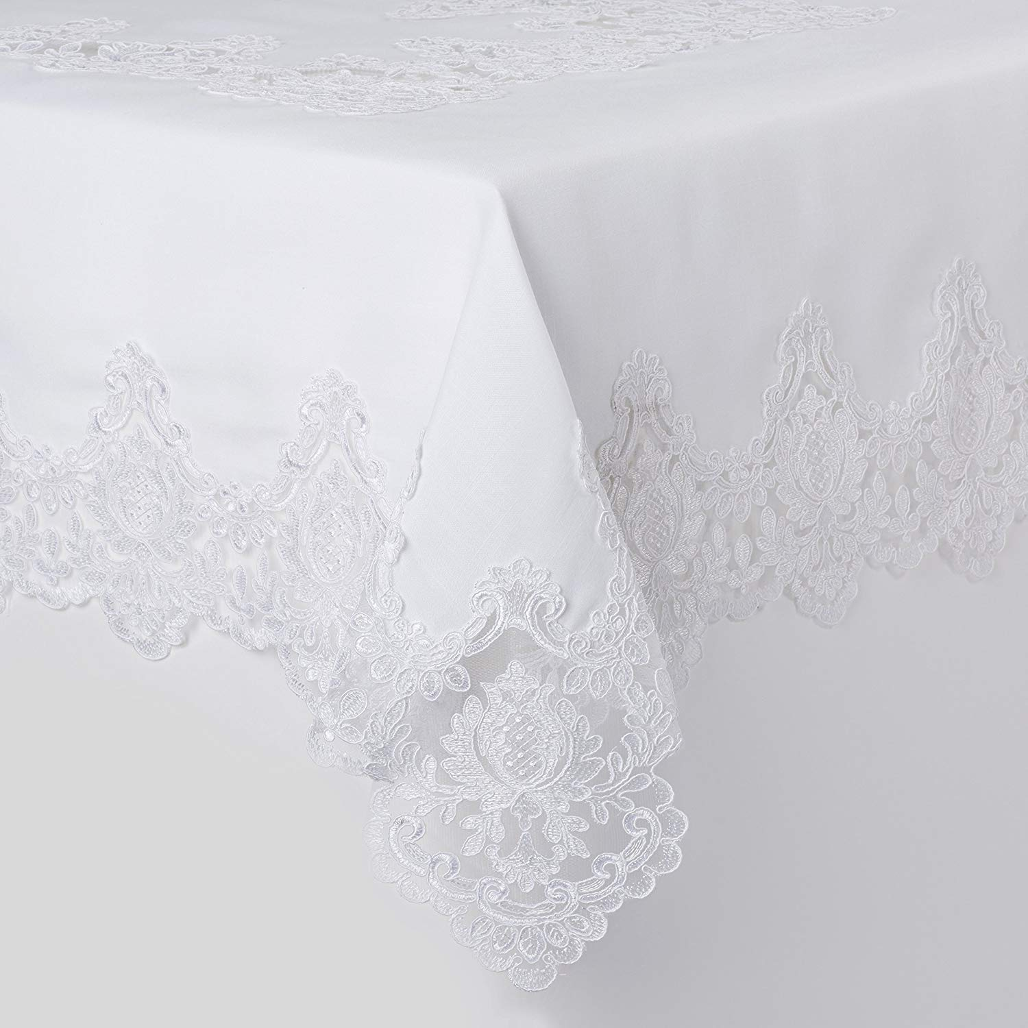 Violet Linen Imperial Embroidered Vintage Lace Design Oblong//Rectangle Tablecloth 70 x 160 Cream IMPERIAL CR-10