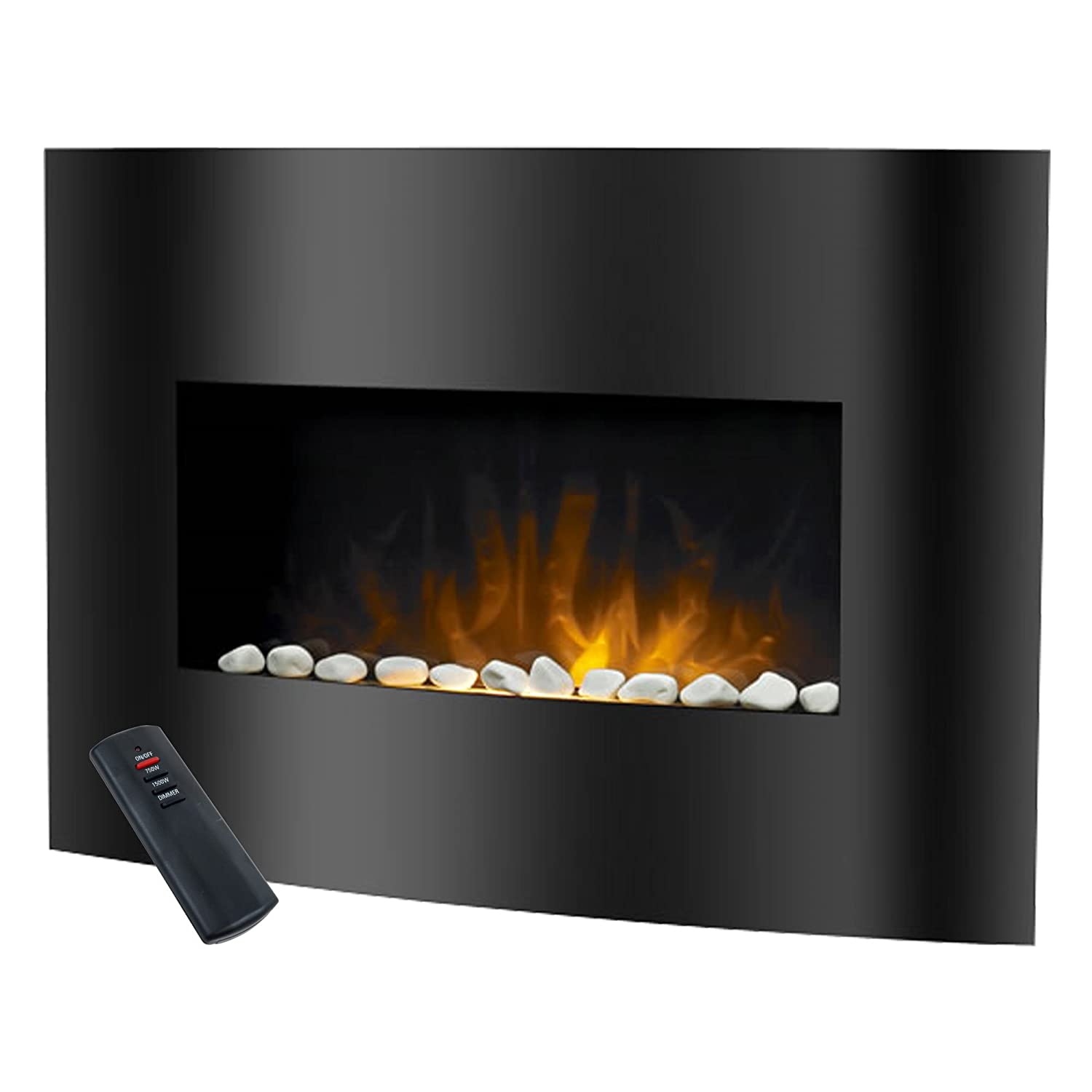 Amazon.com: Warm House Black Arched Glass Electric Fireplace ...