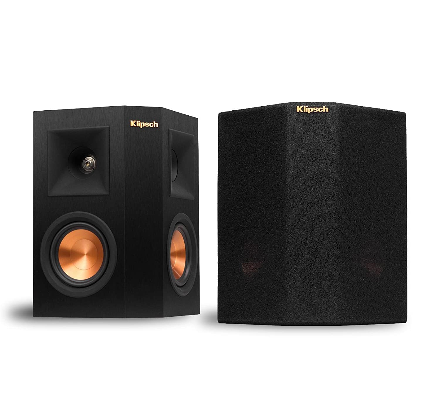 Amazon com klipsch rp 240s reference premiere surround speakers with dual 4 inch cerametallic cone woofers ebony pair electronics