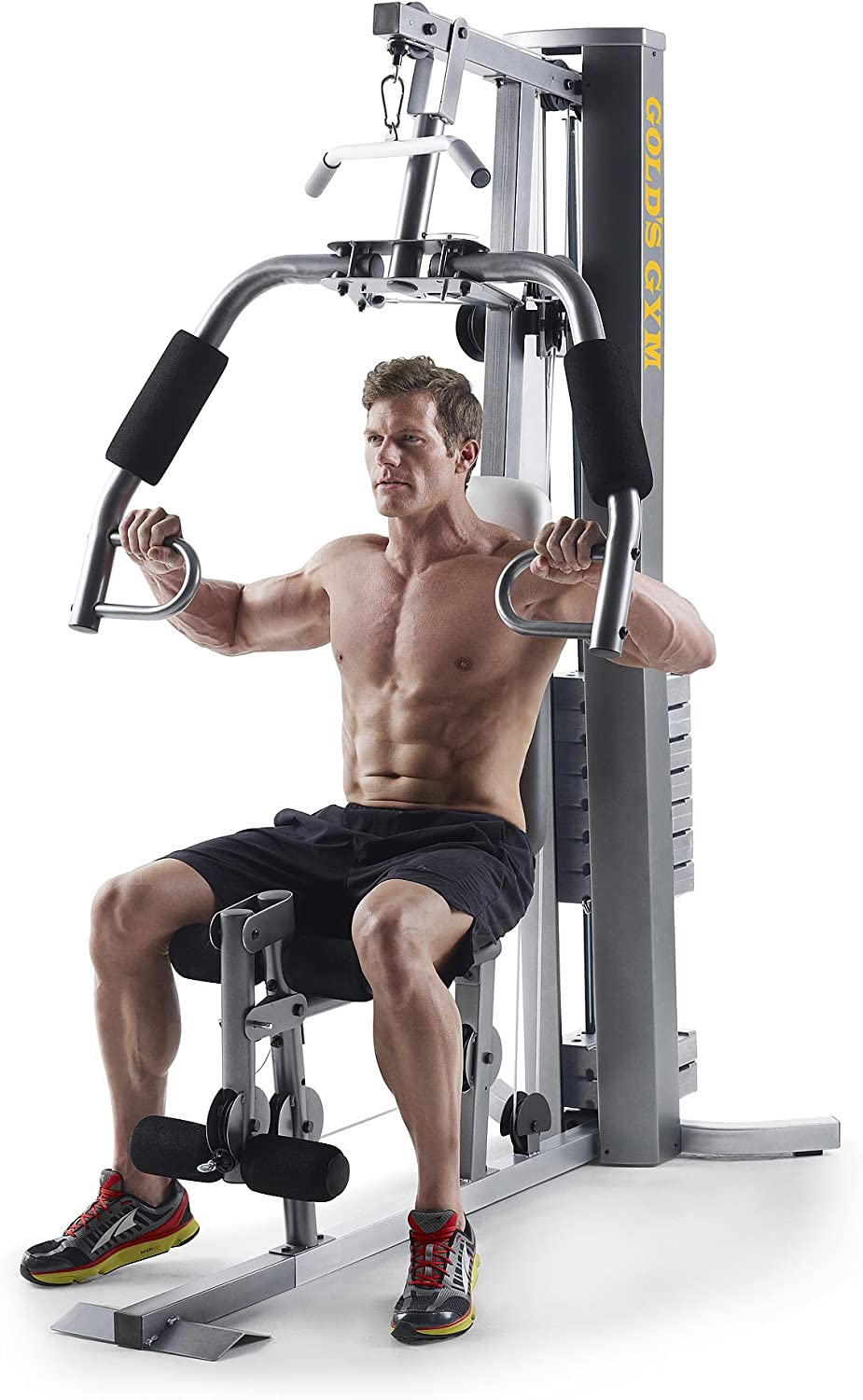 Gold's Gym XRS 50 Home Gym with High and Low Pulley System : Sports & Outdoors