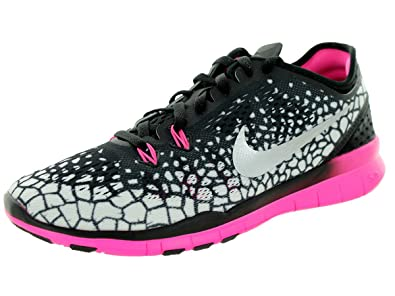 best website 5c2c2 601c4 Nike Womens Free TR 5 Print Fitness Shoe - UK 4.5, BLACK SILVER