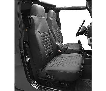 Amazon Com Bestop 29226 15 Black Denim Front High Back Seat Cover