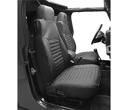 Bestop 29227 15 Black Denim Front High Back Seat Cover Set For 1980 1983