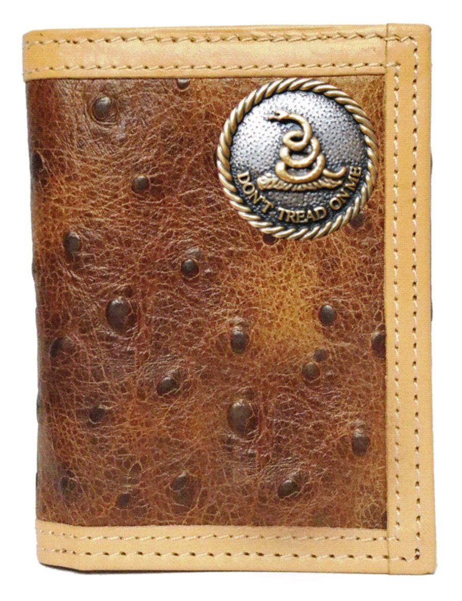 Custom Don't Tread On Me Ostrich Print trifold wallet by Genuine Texas Brand (Image #1)