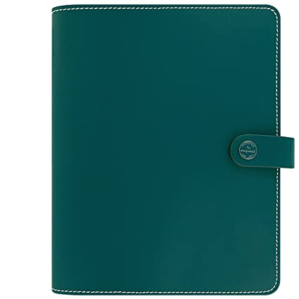 Filofax The Original A5 Patent Leather Organiser Dark Aqua with Diary 2018