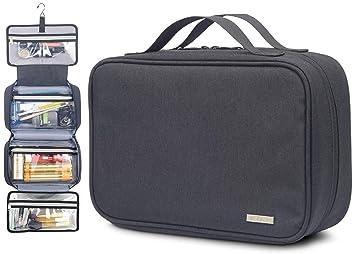 11 x 7.5 x 3-Inch Jagurds Hanging Travel Toiletry Bag Black