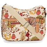 Lily Bloom Kathryn Crossbody Hobo Bag Forest Owl