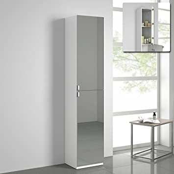 1700mm Tall Bathroom Mirror Cabinet Reversible Cupboard Floor Storage Furniture