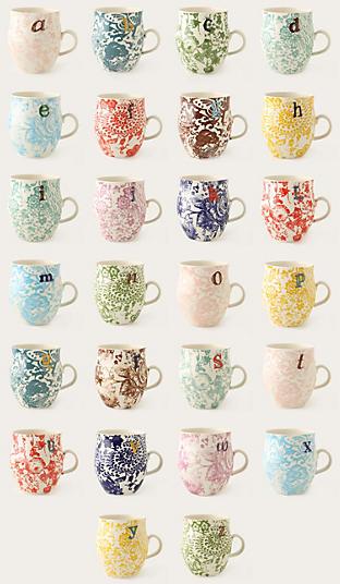 Homegrown Monogram Mug - anthropologie.com