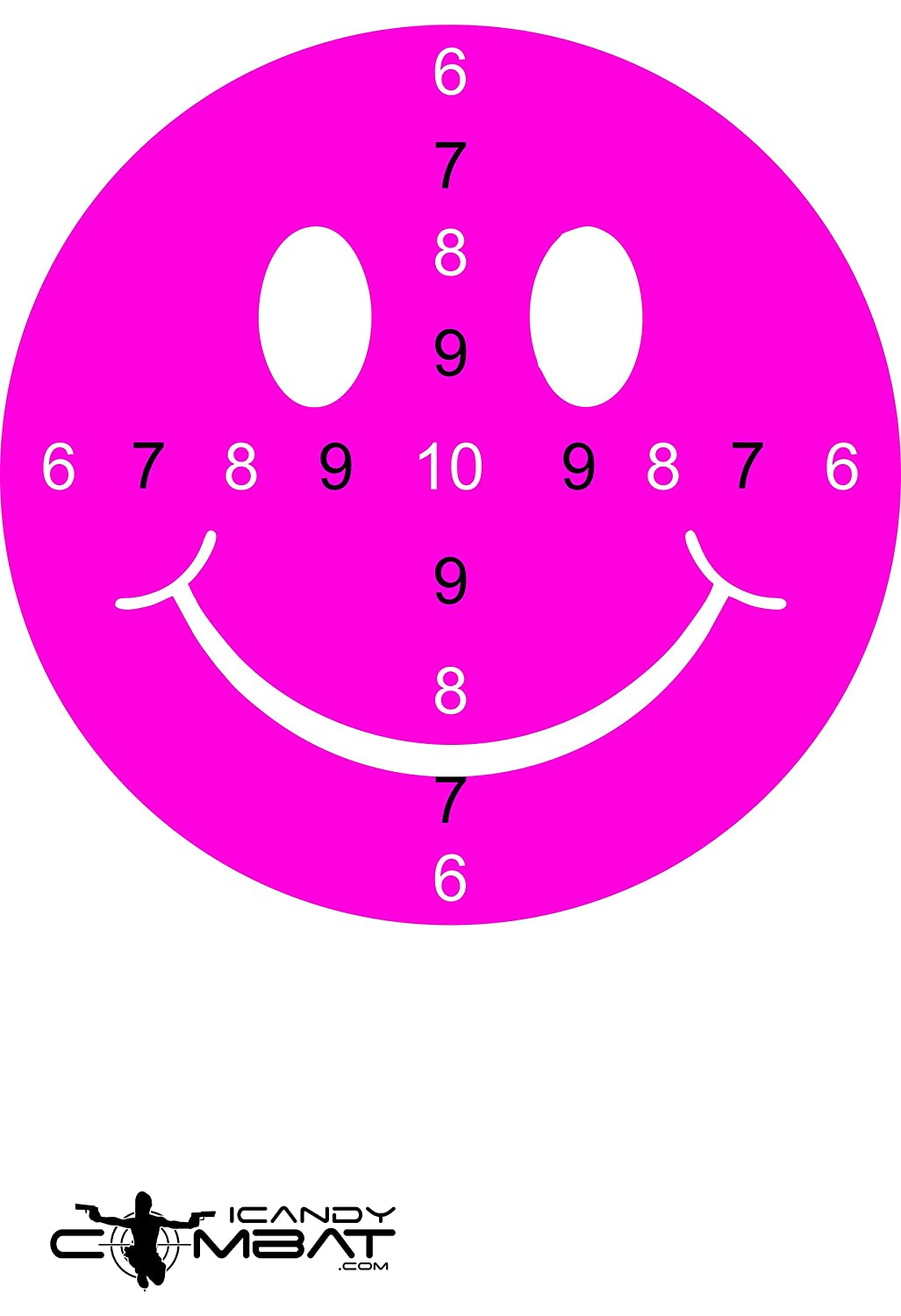 Amazon icandy combat heart hot pink bullseye paper target icandy combat smiley face hot pink shooting practice targets unique target for girls thecheapjerseys Images