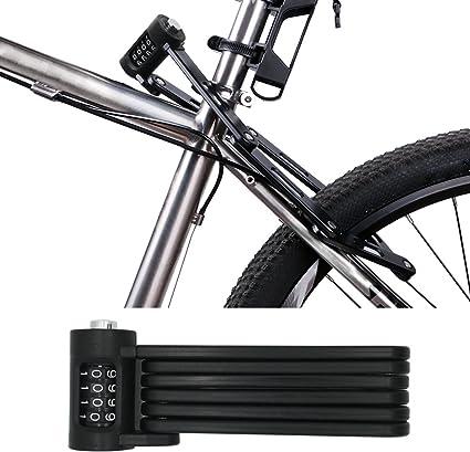Folding Bike Lock Electric Bicycle Lock Steel Foldable Chain Lock MTB Road Bike